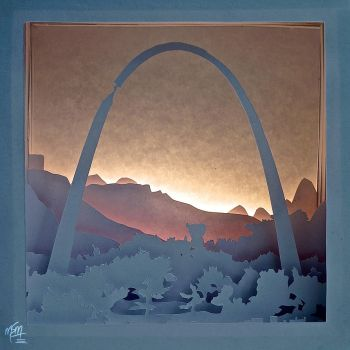 Defiance Arch Paper Lightbox by studioofmm