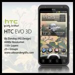 HTC EVO 3D .PSD by zandog