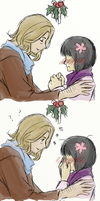 A Shy Mistletoe Kiss by Novembrist