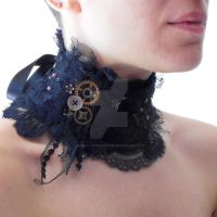 Dark Victorian Rag Lace Collar by RagDolliesMadhouse