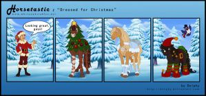 Horsetastic - Dressed for Christmas by DolphyDolphiana