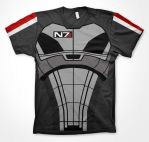 Mass Effect inspired T Shirt Print by r3d5unz