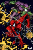 Spidy vs Goblin colors by BDixonarts