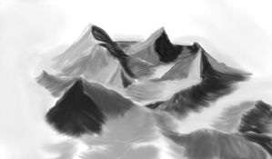 Digital Painting : Mountains by ineedpractice