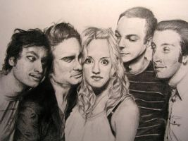 Cast of The Big Bang Theory by Honigkuchenschaf