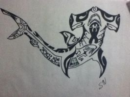 Tribal Shark by thisiscray