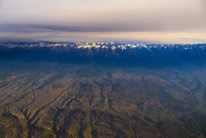 Xinjiang, China from air nP1130177w by laogephoto