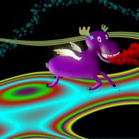 Flying Purple Moose by pyr0MrCow