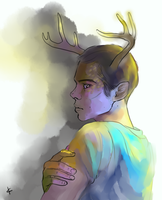 TeenWolf FanArt: Weredeer by NinaKask