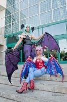 Morrigan and Lilith by TheShiningPolaris