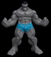 Sculptris Grey Hulk by sup3rs3d3d