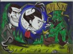 Wilson and Maxwell!!! (don't starve) by stefano-roca