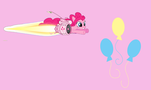 Flying Pinkie Pie Wallpaper by torilovessmiles