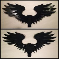 Small Feathered Black Pierced by CraftyWingy