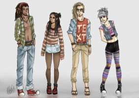Hipsters by miesmud