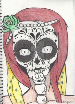 Day of the dead ~ Sugar Skull by UnknownNoLove