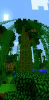 Jungle Tree Panorama by MinecraftPhotography