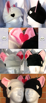 Valentine's Couple Hats by Temmith-Snow