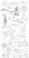 Comm. Sketchdump #01 by Nordeva