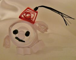 Paper Quilled Adipose in a Fez by cunningcatcrafts