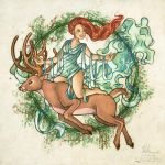The One With the Woman on the Deer by HeatherHitchman