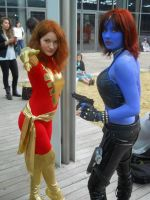Dark Phoenix and Mystique by PSA01RED