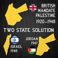 Two State Solution by israVectors