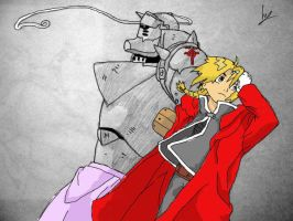 FMA. Edward and Alphonse. 2 by Teishie-Chan