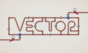 Copper Pipe Text Effect in Adobe Illustrator by Designslots