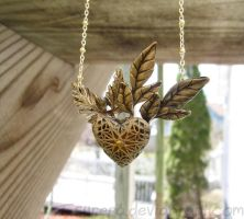 Heart of the Forest - Glow in the Dark Necklace by Tsurera