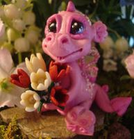polymer clay dragon tulie by crazylittlecritters