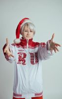 Yuri on Ice cosplay -  Marry Christmas ver. - 2 by Dokura-chan