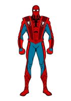 Spider-Man Earth 161 Catastrophe Event Suit by stick-man-11