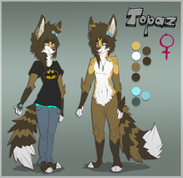 Topaz anthro ref by ZombieKitties