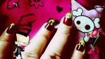 Irken blood nails by Conejita-Ginny