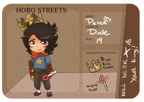 ::Hobo-Streets:: King Peter by Nude-Mochi