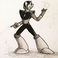 Inktober Day 4 - Elec Man  by The-Letter-W