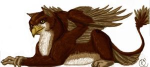 Gryphon in Repose by Katolin