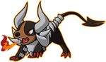 Chibi Mega Houndoom by iPhysik