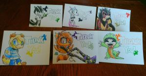 Thank You Cards by ScribblezStarz