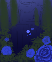 Moonlight garden wip by CyanLights