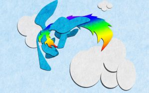 Felt rainbowdash wallpaper by jhr921