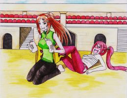 Erza's Public Defeat by GreenJack21