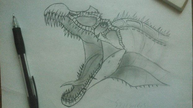 Spinosaurus - Head by Fate-Darknu-Dragoon