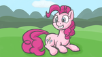 Pinkie Pie taking a break by Bill-the-Pony