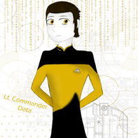 Lt. Commander Data by YourFaceLooksFunny