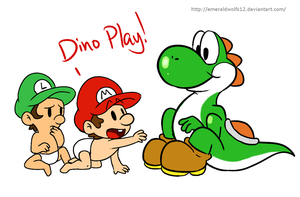 Dino play :D by MariobrosYaoiFan12