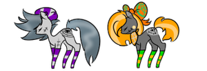 [ADOPTS] Halloween Themed Pony Adopts (Open) by PugKing