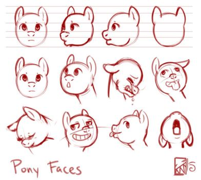 Pony Faces by Kinla