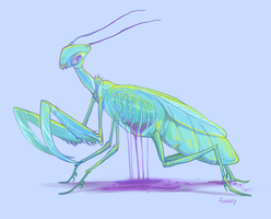 cage mantis by foxery